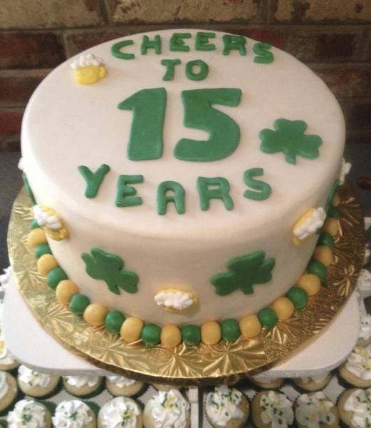 Irish Theme Anniversary Cake