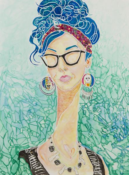#art #artist #contemporary #contemporaryart #abstract #abstractart #kathrynmcginley #kathrynmcginleyart #longneck #glasses #ink #singleline #continuouscontour #portrait #figure #gallery #museum #selfie #paint #acrylic #ink #paper #painting #streetart #kathrynface