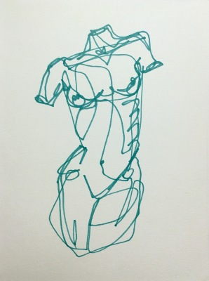 single line figure drawing mini series VIDEO 002