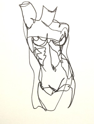 single line figure drawing mini series VIDEO 001