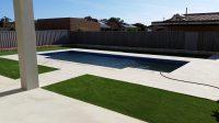 fake grass pool area