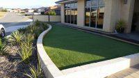 Retaining walls artificial turf