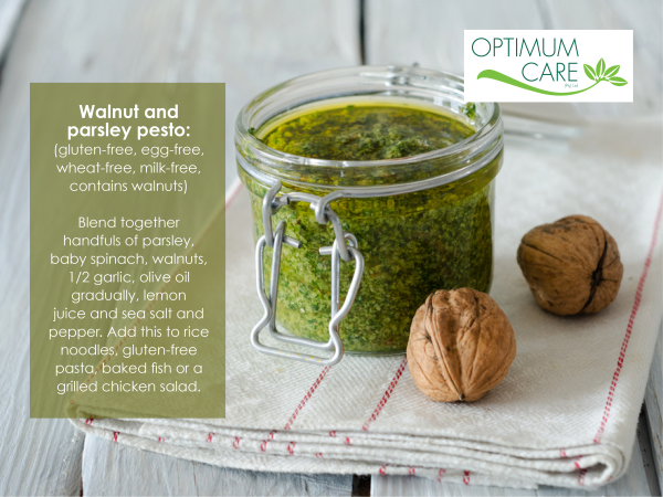 Walnut and parsley pesto