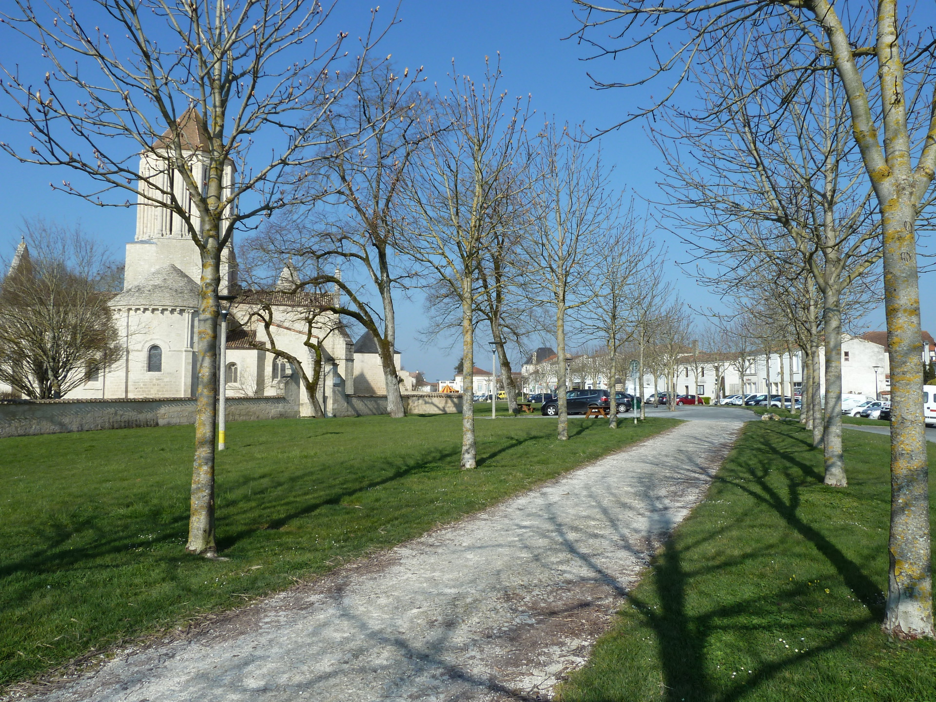 Our walk from the house into the town centre past the eglise,