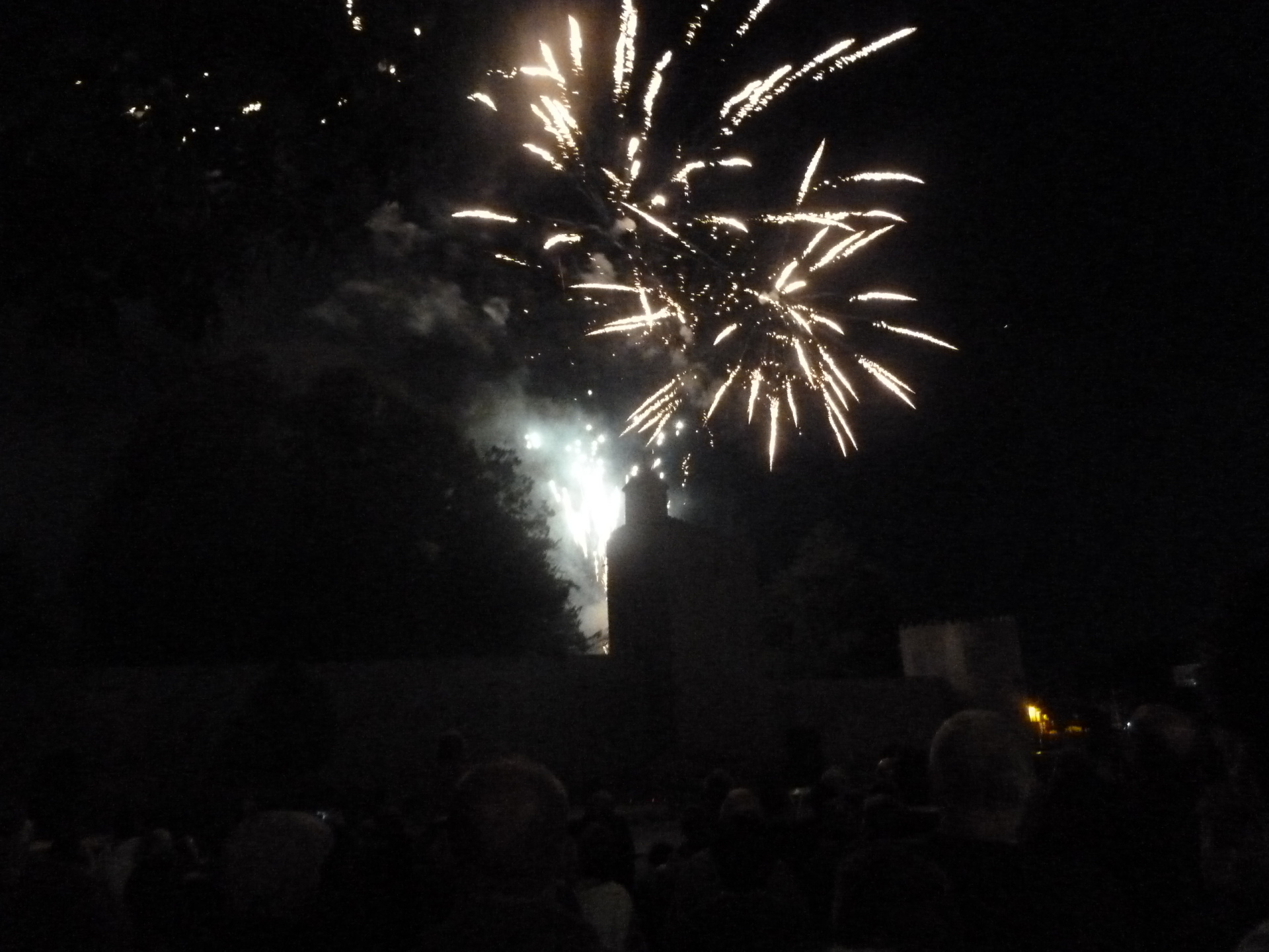 Fireworks on Bastille Day in front of the Remparts