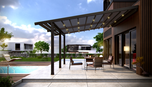 "<pergola with retractable roof system.jpg"" alt=""pergola with retractable roof system to enhance your outdoor patio"">"