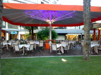 backlit patio umbrella for outdoor space