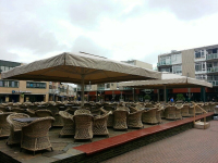patio umbrella for outdoor dining area