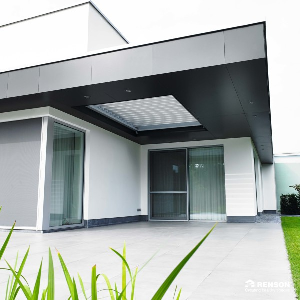 integrated terrace cover for residential home