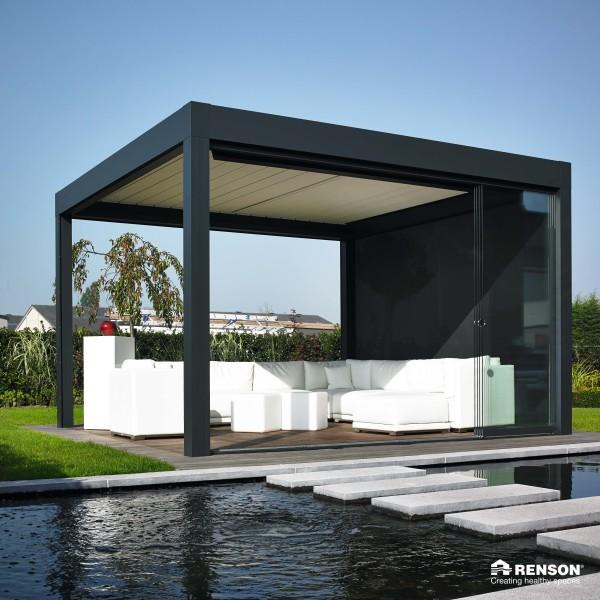 enclosed pergola for outdoor area
