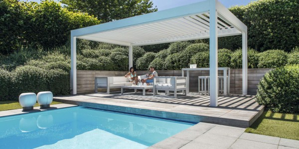 bioclimatic pergola retractable roof system terrace cover