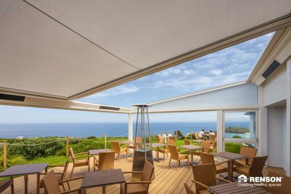 customized restaurant patio cover