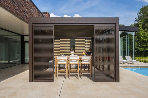 poolside residential patio cover