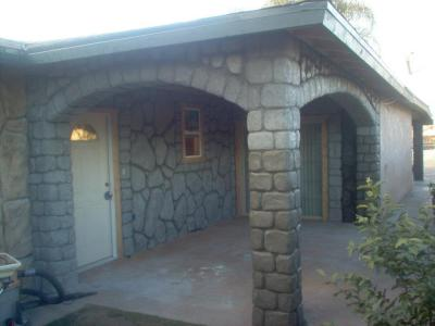 Concrete rock design