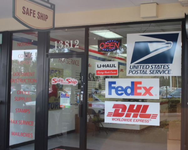 DHL, Fedex, USPS, Post Office, U-Haul