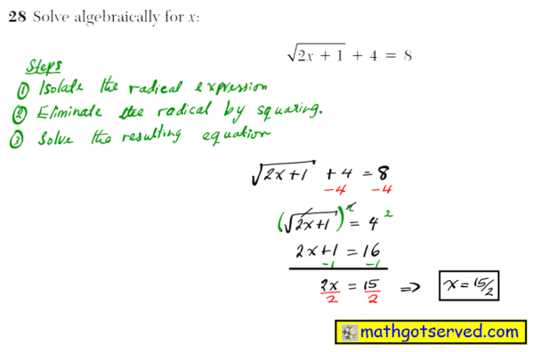 NYS Regents 2016 January algebra 2 Solutions 29 Factor completely: x3   3x2   2x   6