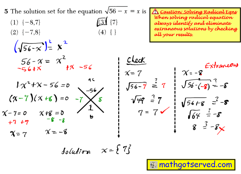 June 2016 NYS Algebra 2 Common Core Regents exam solutions Given i is the imaginar 2-yi in simplest form