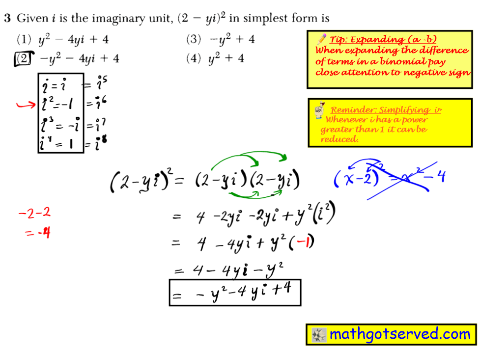 June 2016 NYS Algebra 2 Common Core Regents exam solutions  The solution set for the equation