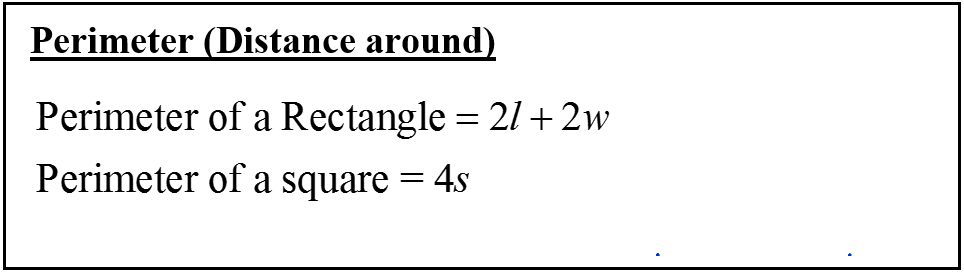 Perimeter of a rectangle and square formula how to cbest
