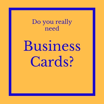 What to do with business cards?