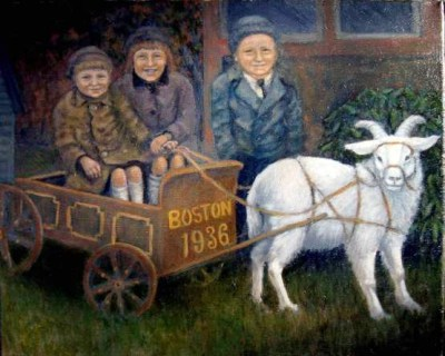 Goat Cart Children