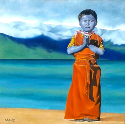 "Beautiful Prayer - Oil on canvas - 36"" x 36"" - Sold"