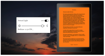 An E-ink Reader for Night Reading and Good Sleep