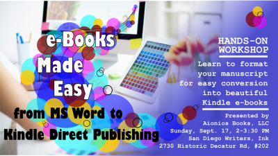 From Word to Kindle Direct Publishing: Workshop