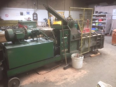 April 2017 Auction - Samson 20 Metal Baler, Brand New Furniture, Garden Furniture, Stock Pallets etc