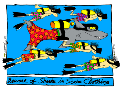 Beware of Sharks in Scuba Clothing