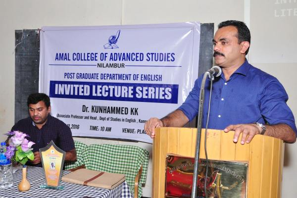 PG Dept. of English: Invited Lecture on 'The Foundations of Literary Theory'  on 17th November