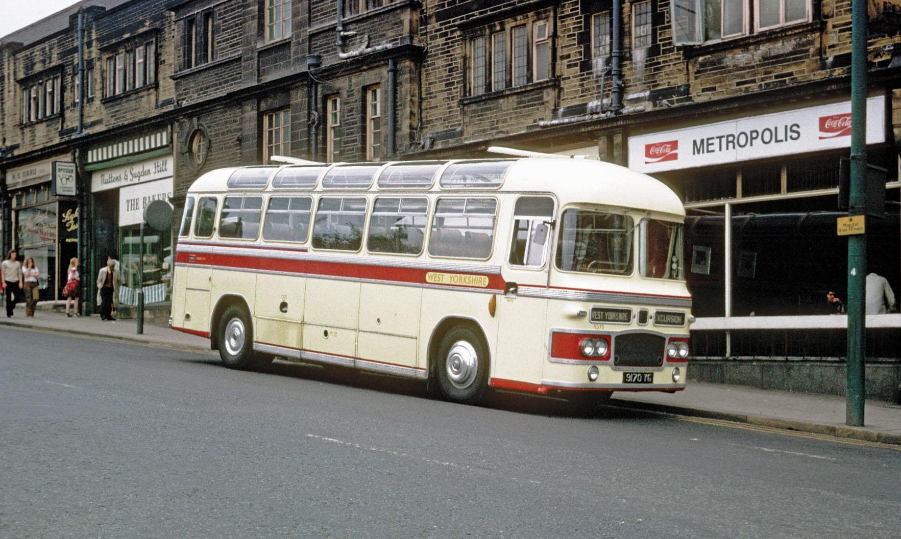 Coach waiting on Morley Street Bradford