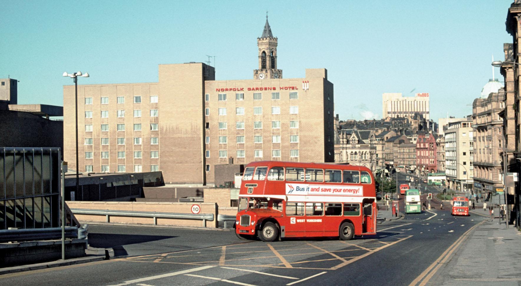 Turning into Bradford Interchange