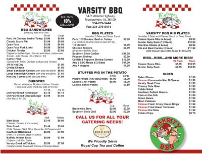Varsity BBQ