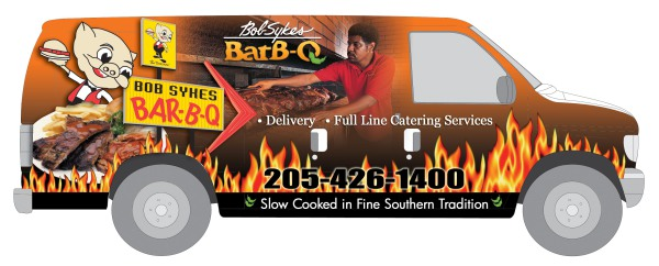 Bob Sykes BBQ - Graphics for Van Wrap
