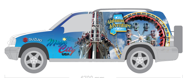 Alabama Adventure - Graphics for Car Wrap
