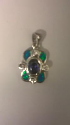 BLUE SAPPHIRE/OPEL INLAY
