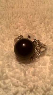 black oynx & white topaz