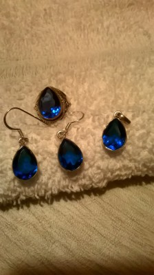 set of blue sapphire