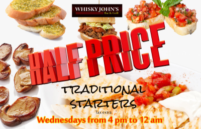 WEDNESDAY - 1/2 price Traditional Starters