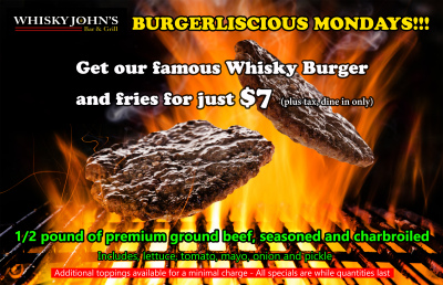 MONDAY - Whisky Burger