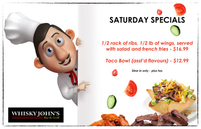 SATURDAY CHEF SPECIALS