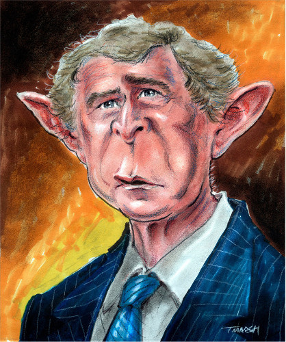 Thomas Marsh Creations artist Los Angeles art artwork color painting illustration caricature George W. Bush