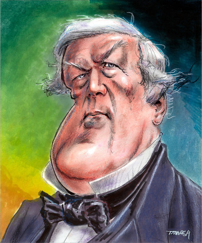 Thomas Marsh Creations artist Los Angeles art artwork color painting illustration caricature Millard Fillmore