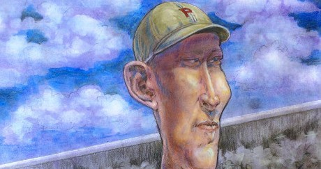 Caricature of baseball player Fred Luderus, 1912