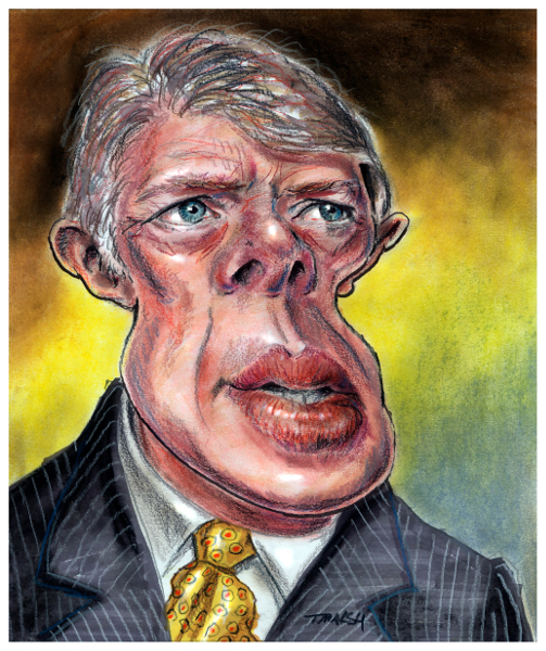 Thomas Marsh Creations artist Los Angeles art artwork color painting illustration caricature Jimmy Carter