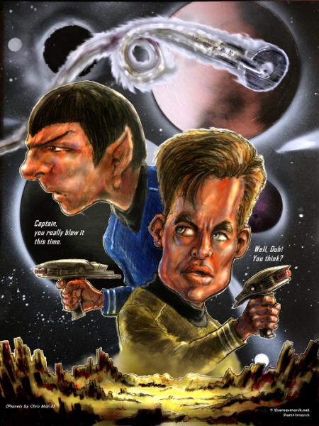 sci-fi Star Trek Spock Captain Kirk space planets starship explosions alien landscape