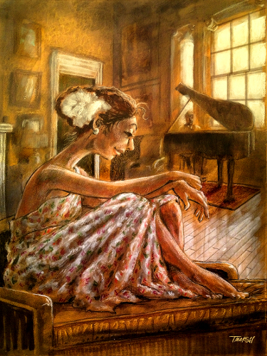 Thomas Marsh Creations artist Los Angeles art artwork color painting illustration romance, love, music, interior, room, pieno