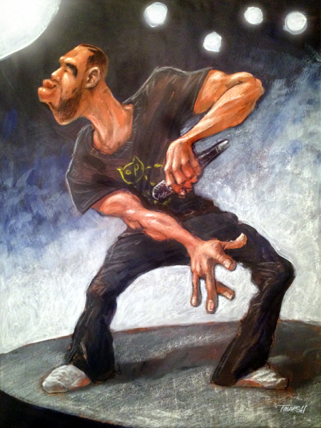 Thomas Marsh Creations artist Los Angeles art artwork color painting illustration caricature #grammys #music #drake #rapper #rap #artist #performance #concert #culture #caricature #illustration #art #gesture