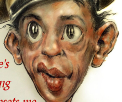 Thomas Marsh Creations artist Los Angeles art artwork color painting illustration caricature Barney Fife classic television